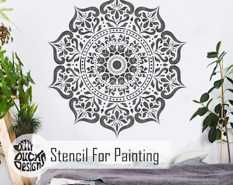 Mandala Stencil Etsy