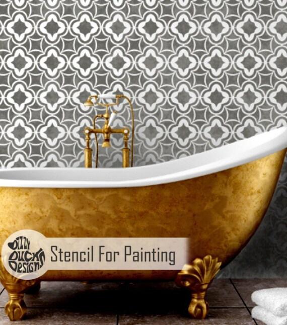 Arabian Nights Stencil Moroccan Arabic Wall Floor Furniture Etsy
