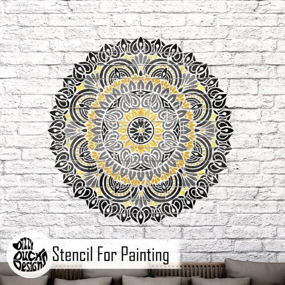 Mandala Indio Plantilla Muebles Bhadra Pared stencil Piso Para Pintura