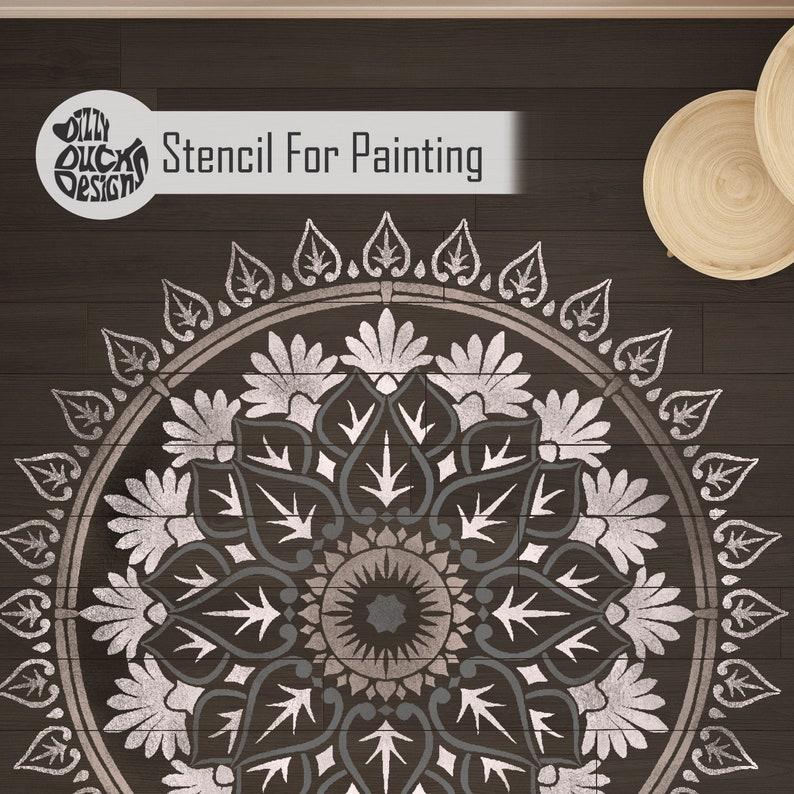 varanasi mandala stencil indian boho reusable wall stencil | etsy