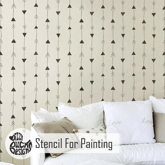 FLÈCHE Nordique Pochoir   Mur Scandinave Moderne Meuble Sol Artisanat Pochoir  Pour Peinture   NORD01