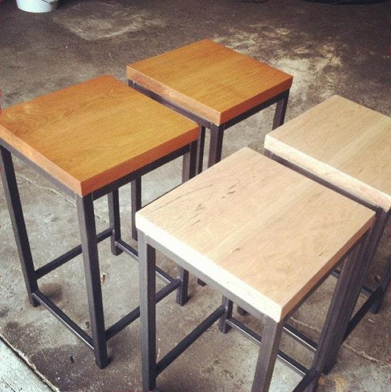 Awe Inspiring Reclaimed Barstools With Steel Base Designs2Create Inzonedesignstudio Interior Chair Design Inzonedesignstudiocom