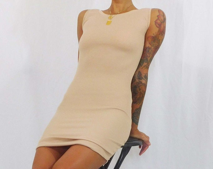 Aubrey Sleeveless Ribbed Mini Dress