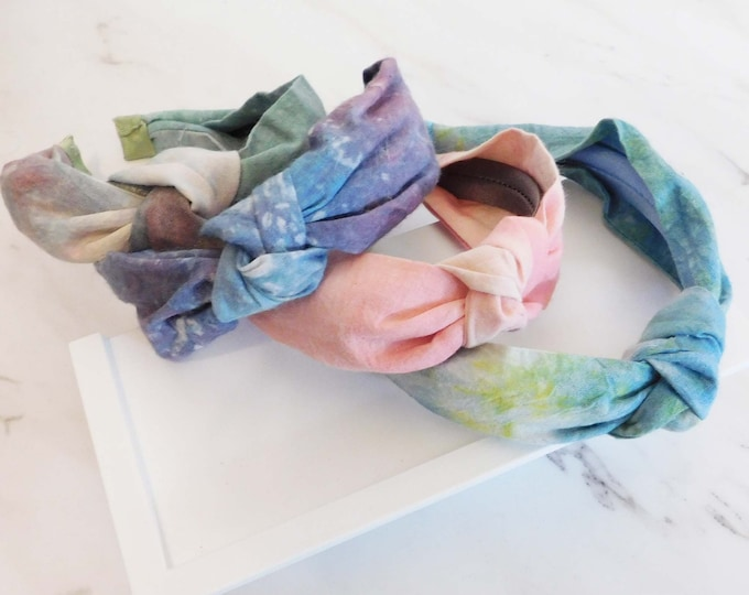 Tie dye knot headband and scrunchie set