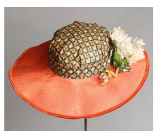 Vintage 1950's Smith & Neil Straw Tilt Hat