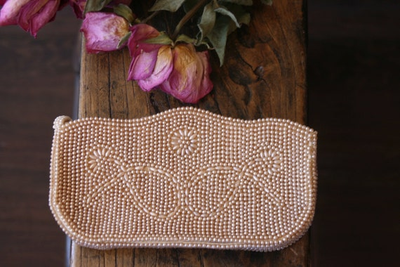50's Pearl Clutch Purse Handbag