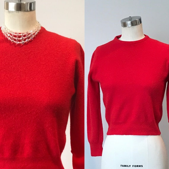 50's Bobbie Brooks Wool Crewneck Cropped Sweater |