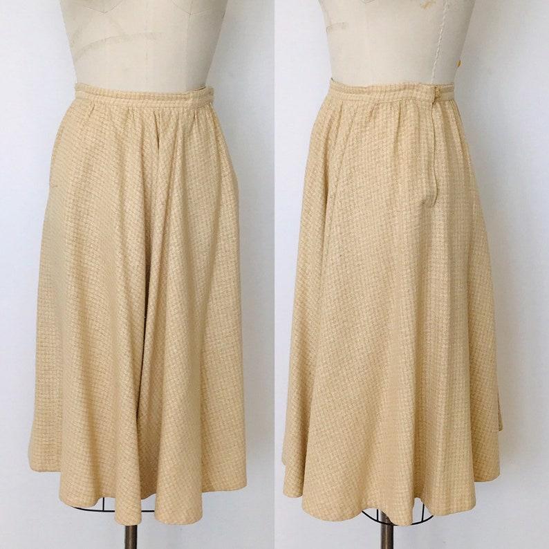 1970's Gudule PARIS Wool Circle Skirt  S image 0