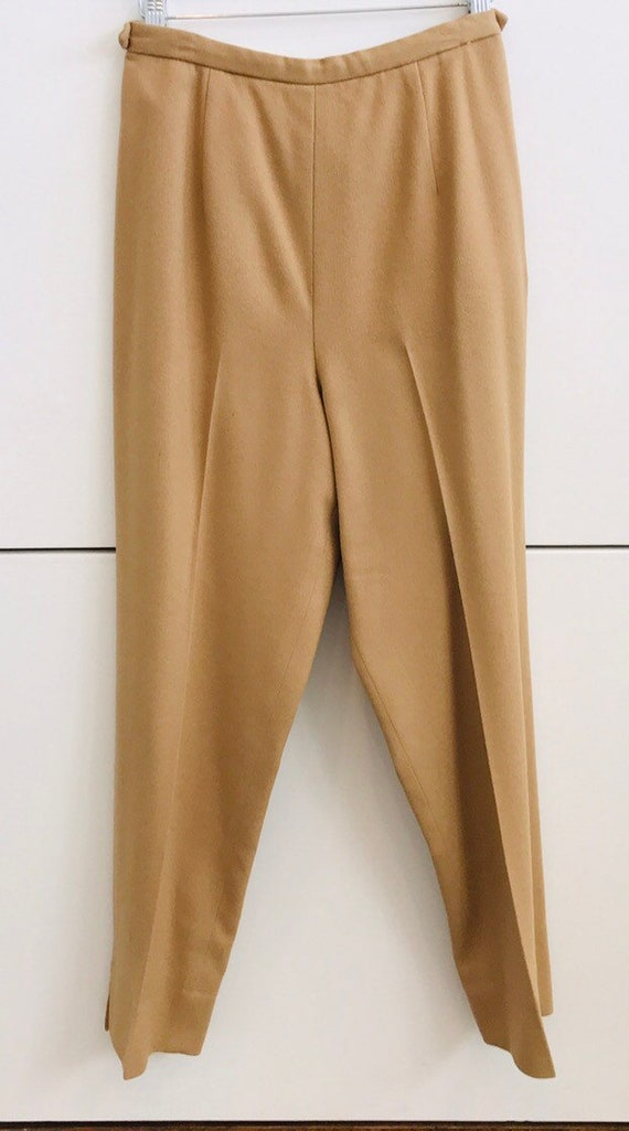 1950's Pantino Camel Wool Cigarette Pant   M