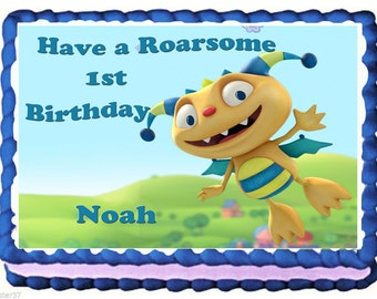 Henry Hugglemonster Cake Topper With FREE Personalization