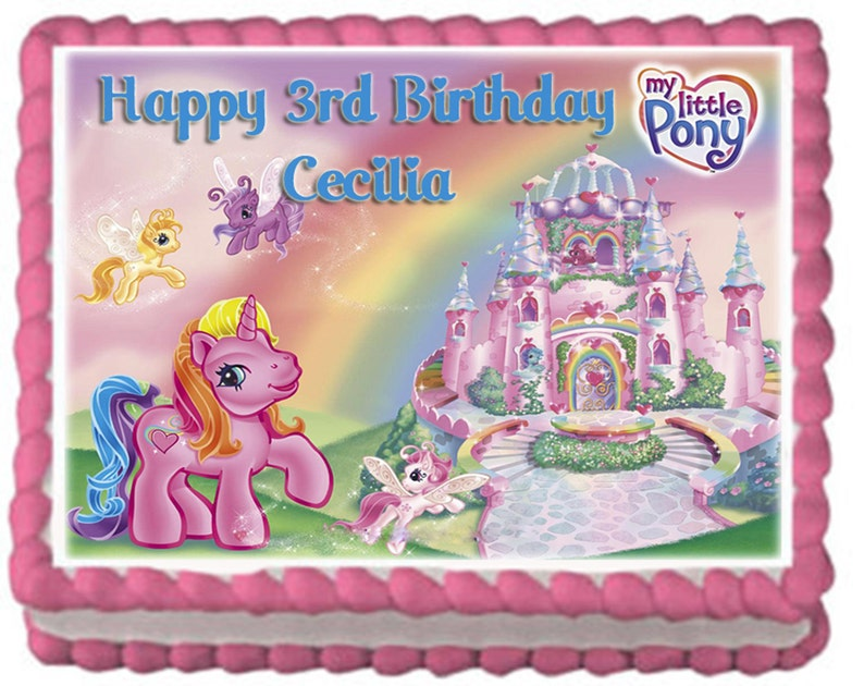 My Little Pony Birthday Cake Topper With FREE Personalization
