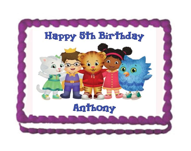 Tremendous Daniel Tiger Birthday Cake Topper Katerina Kitty Cat Cake Etsy Funny Birthday Cards Online Elaedamsfinfo