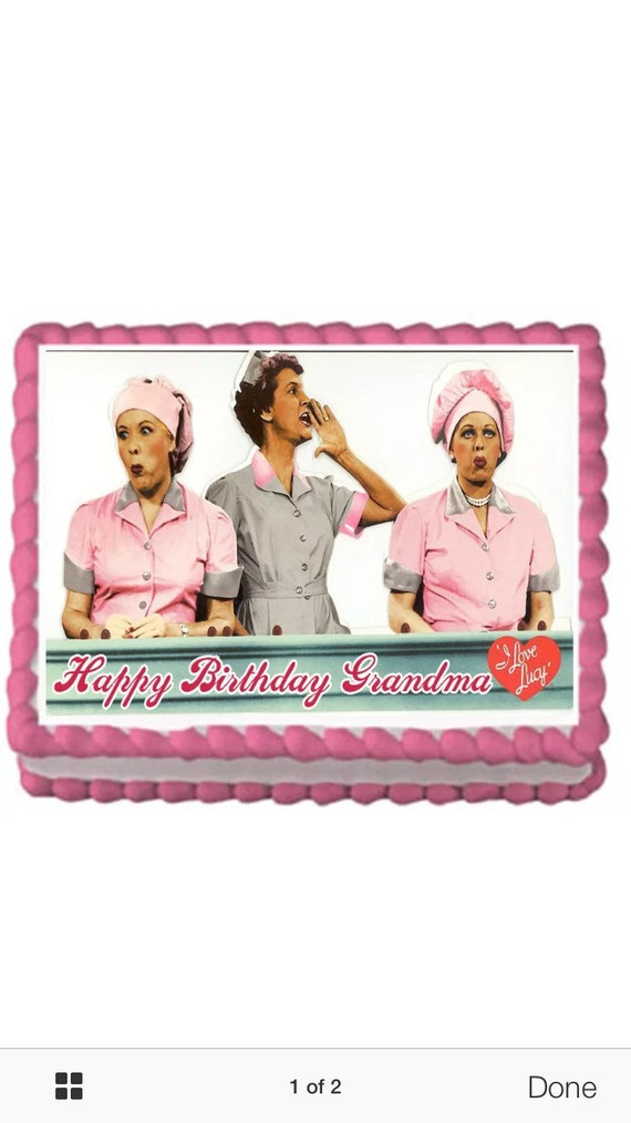 I Love Lucy Cake Topper With Free Personalization Etsy