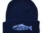 Salmon Cuffed Beanie - Na...