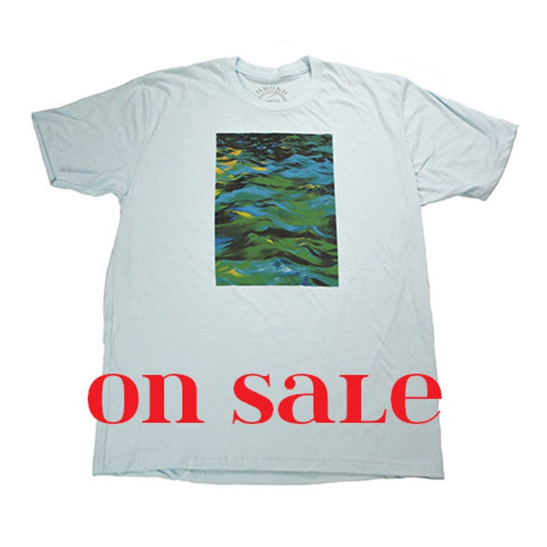 ASC PAINTING 2  Light Blue  T-Shirt  On SALE  Discontinued image 0