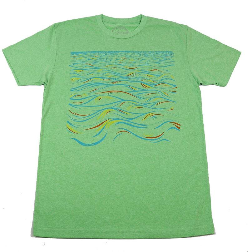 SUNRISE  Mens T-shirt  Light Green T-shirt  Apple  image 0