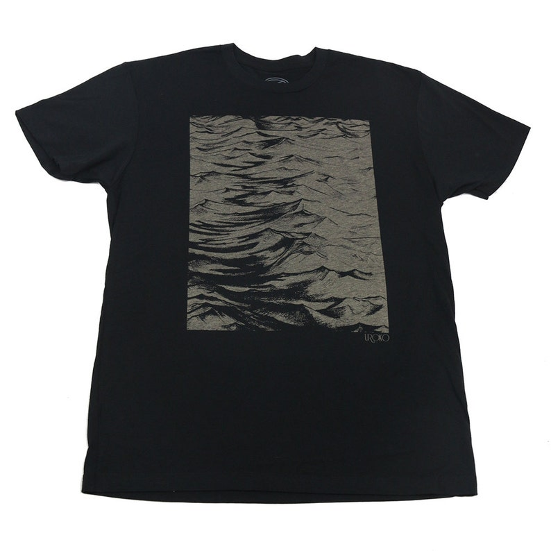 SEASIDE  Men's T-shirt  Black t-shirt  Discharge print image 0