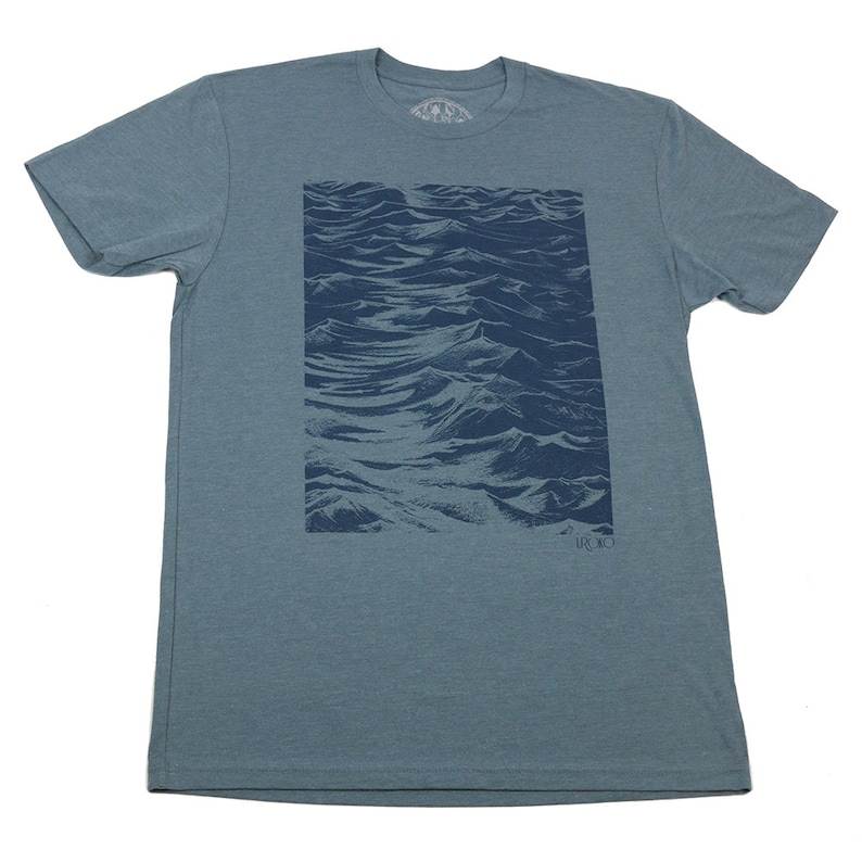 SEASIDE  Men's T-shirt  Indigo t-shirt  Discharge print image 0