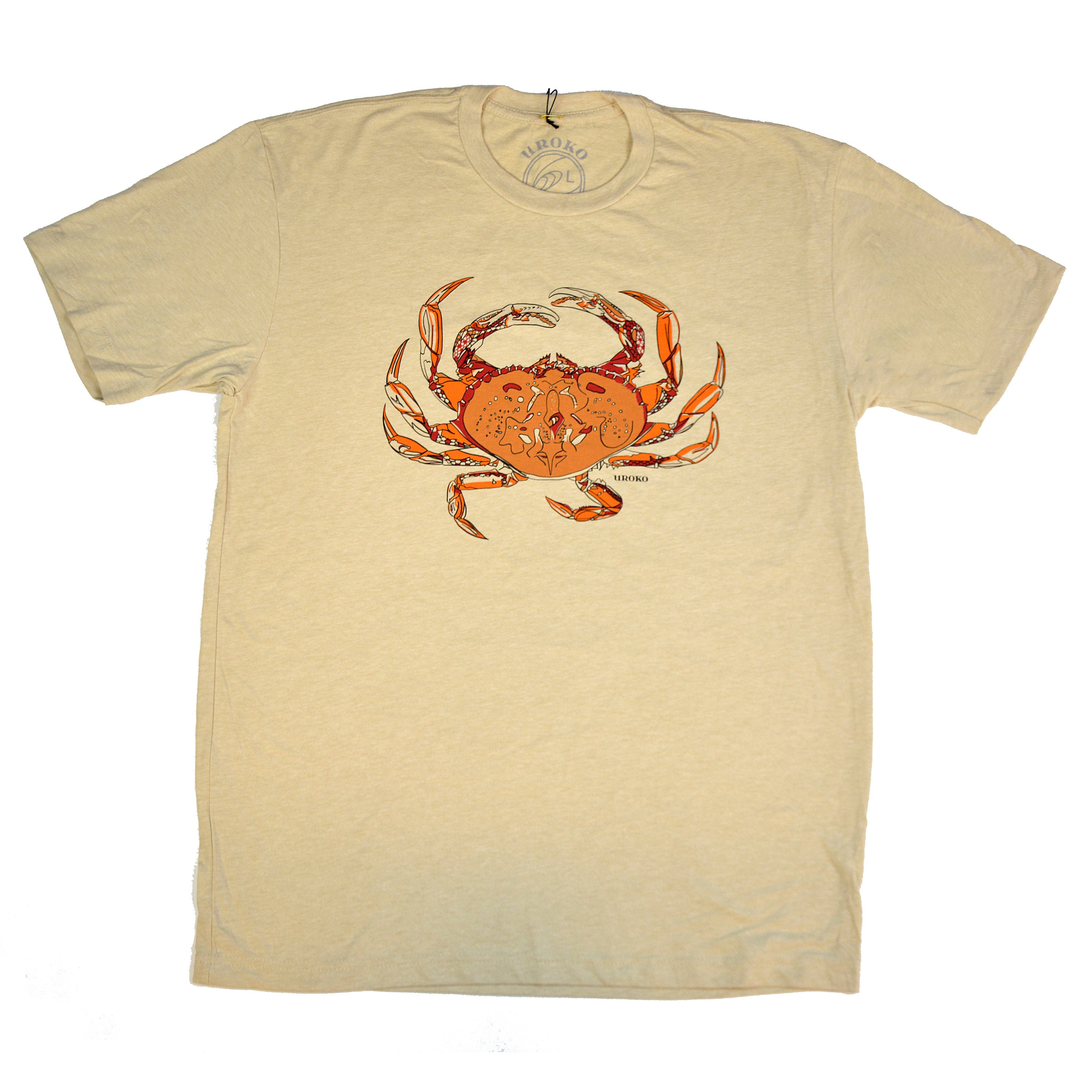 532396ee8eb DUNGENESS CRAB Cream T-shirt Crustacean Nation Pot