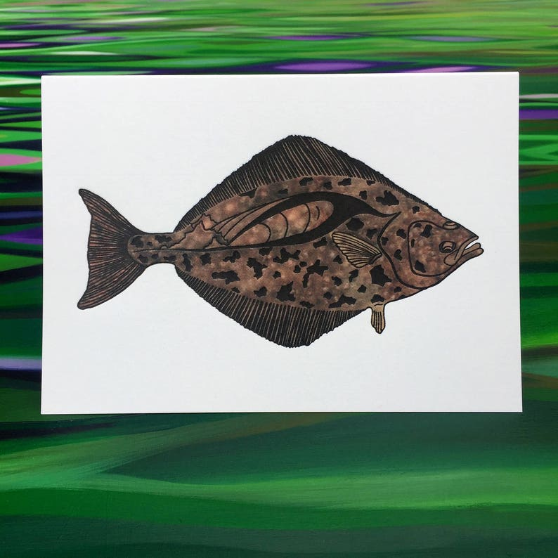 Halibut Greeting Cards  6 Pack  4 X 6 size  image 0