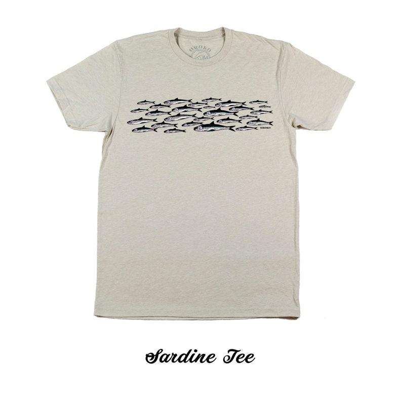 SARDINES  Sand color  Short Sleeve T-Shirt  bait fish  image 0
