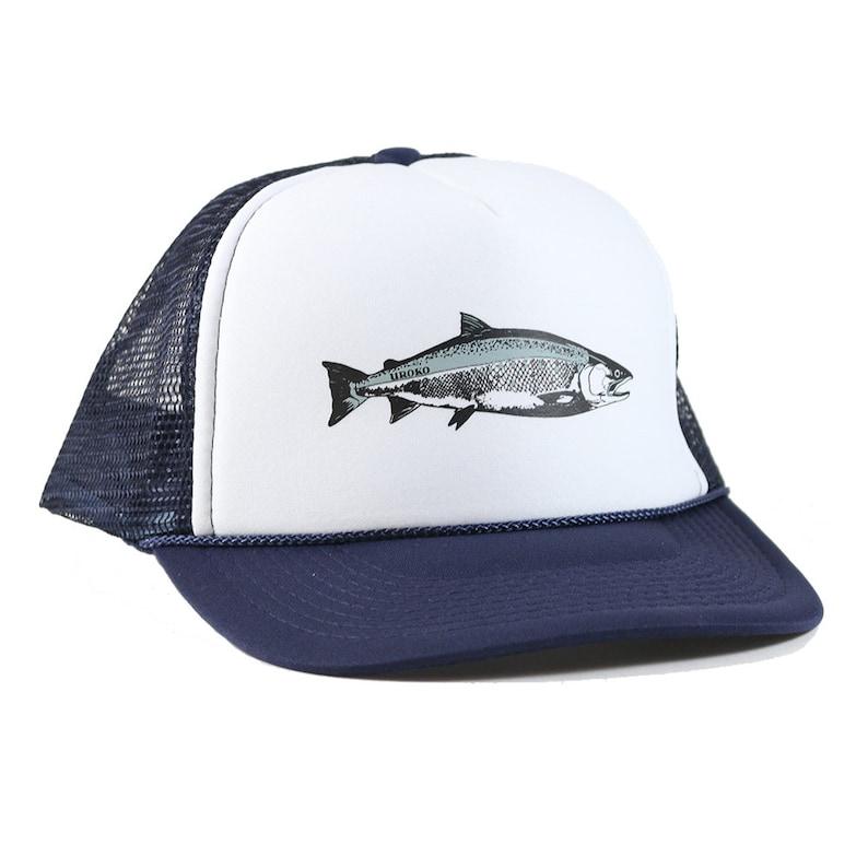 Coho Trucker  Navy / White Trucker Hat  Fish  Salmon  image 0