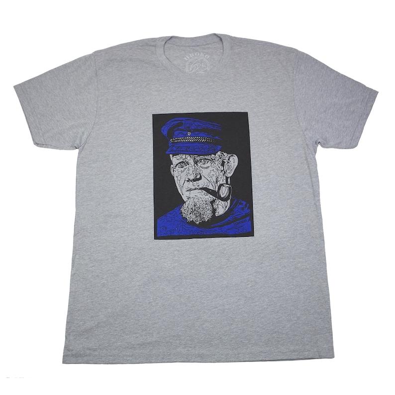 THE FISHERMAN  Heather Grey  Short Sleeve T-shirt  water image 0