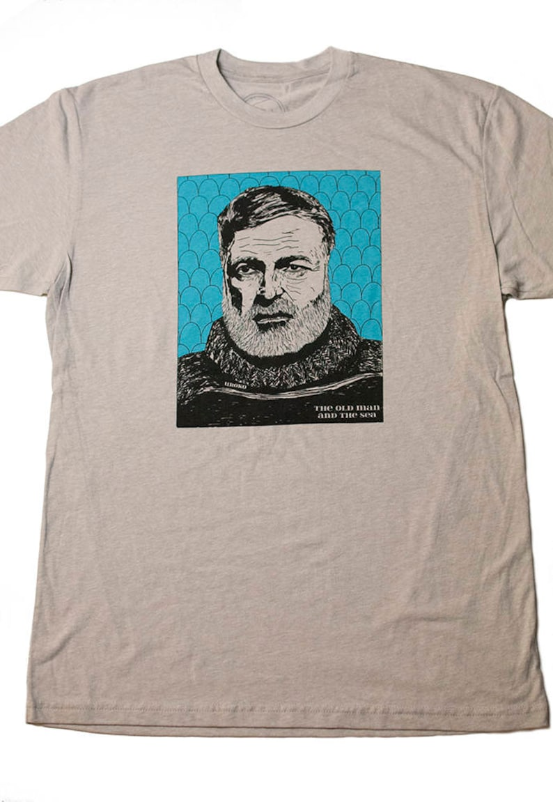 HEMINGWAY  Men's T-shirt  Silk T-shirt  water-based ink image 0
