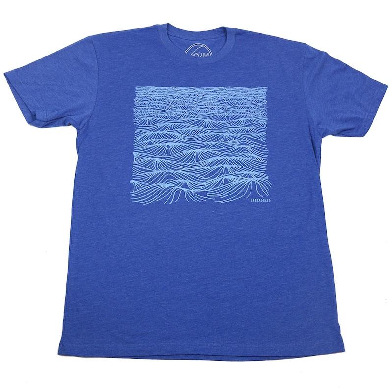 SWELL  Mens T-shirt  Royal Blue T shirt  Oceanic Design  image 0