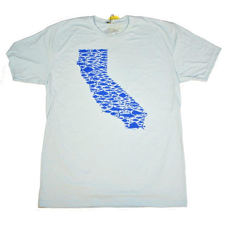 CALIFORNIA FISH LOVE  Light Blue  Blue Ink  T-shirt  image 0