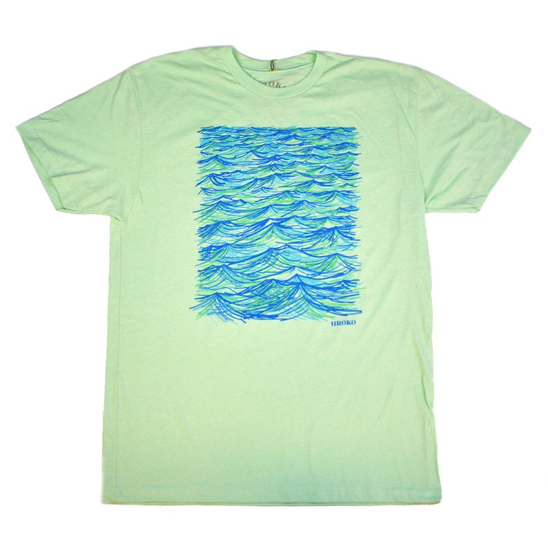 20 KNOTS  Mint Green  T-shirt  water based ink  wind  image 0