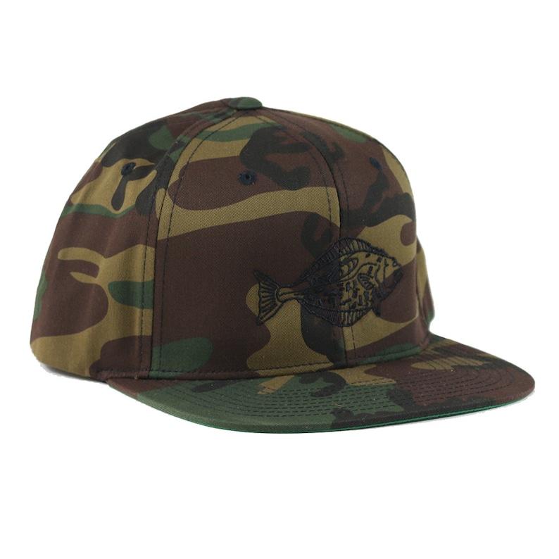 407084ae05f4c Halibut Camo Snapback Hat 6 Panel Snapback Black Halibut