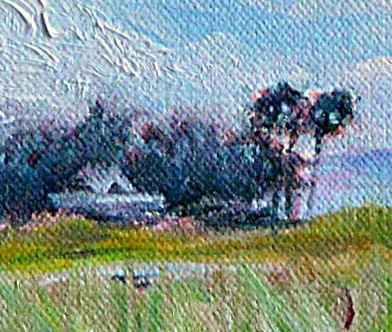8 x 10 Pacific Palisades Small Painting Rotsen Landscape CA Original Oil Painting on Canvas by L Morning in Bluffs Bike Park
