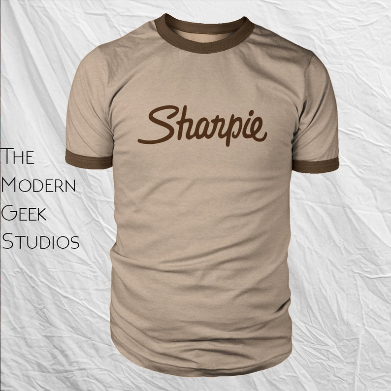 00b99a5662771 Sharpie Shirt Ringer - Screen Printed Screen Printed Replica, Great for  Halloween costume or cosplay.
