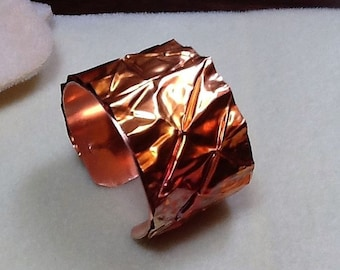 Colorful Copper Fold-Formed Cuff Bracelet