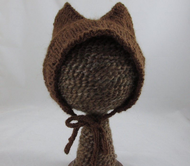 078c6e754fa Alpaca Kitty Ears Baby Bonnet