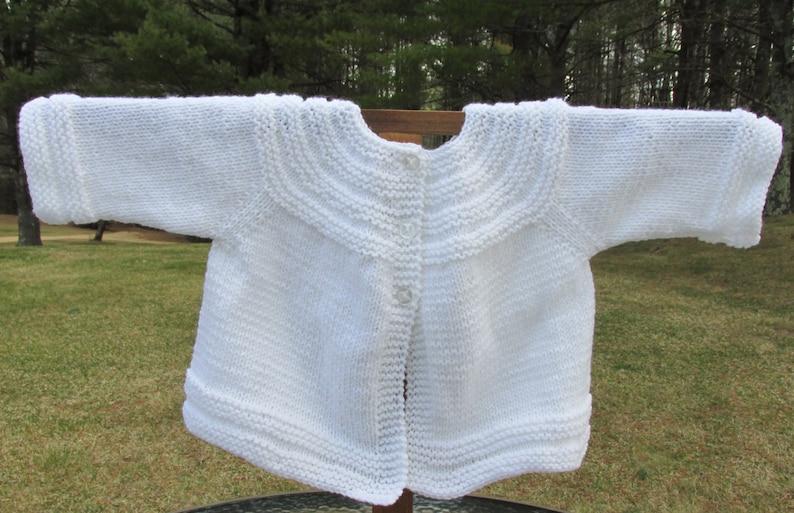 White Baby Sweater image 0