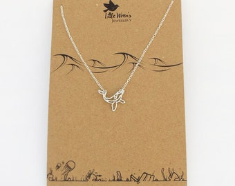 Whale Necklace // Orca Necklace • Animal Necklace • Whale Jewellery • Gift for Her • Dainty Necklace • UK Seller • Gift Wrapping Available