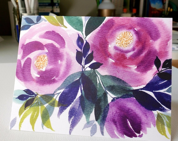 Purple Flower Notecards