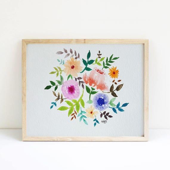 Floral Watercolor 5x7