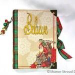 Believe In Christmas Interactive 6x8 Mini Scrapbook Album, Christmas Card storage, 5x7 photo display