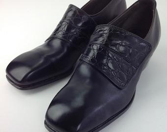 e141e53cc3d 1960 s Alligator   Leather Shoes   Stetson Slip-On s   Never Worn   Vintage  Dead Stock   Men s SIZE 7-1 2