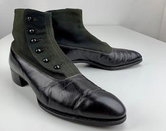 96b18a2d5581c Black victorian boot | Etsy
