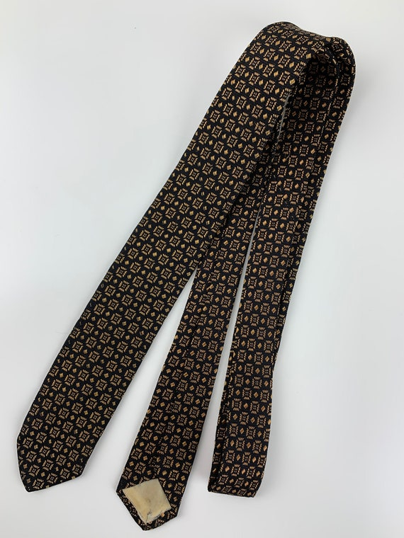 1950'S-60'S Silk Tie - Interesting Check Pattern -
