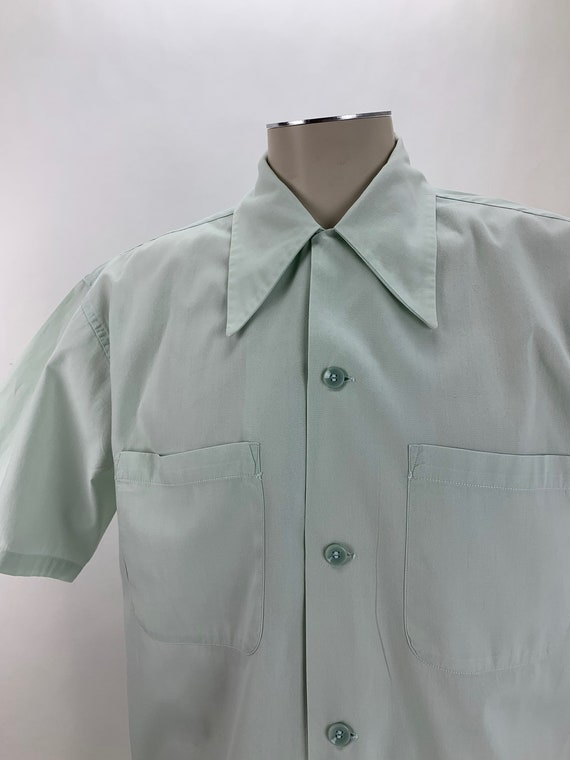 1940's Cotton Shirt - ARROW Brand - Light Mint Gre