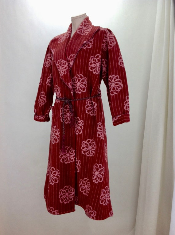 1930's BLANKET ROBE / BEACON Fabric / Deco Floral
