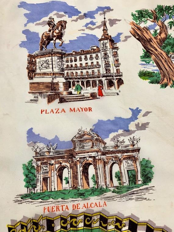1950'S MADRID Souvenir Scarf - Tourist Scarf - Ac… - image 9