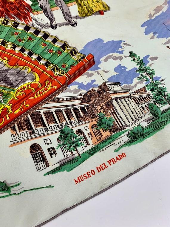 1950'S MADRID Souvenir Scarf - Tourist Scarf - Ac… - image 10