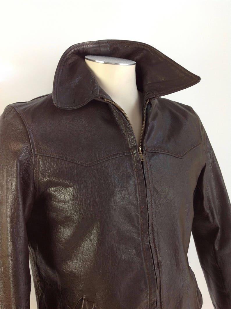 a655a5746 1940's VINTAGE GOATSKIN Leather Jacket / Field & Stream / Men's Size 38
