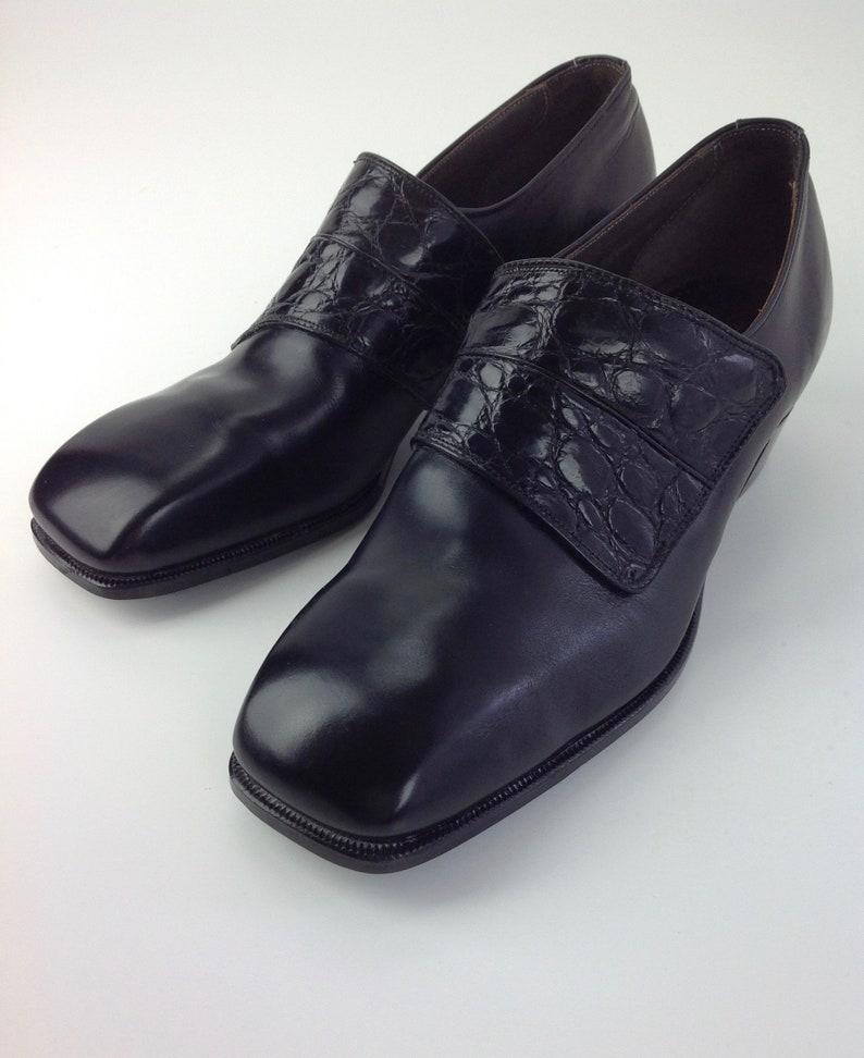 7a8c6de2cdd74 1960's Alligator & Leather Shoes / Stetson Slip-On's / Never Worn / Vintage  Dead Stock / Men's SIZE 7-1/2